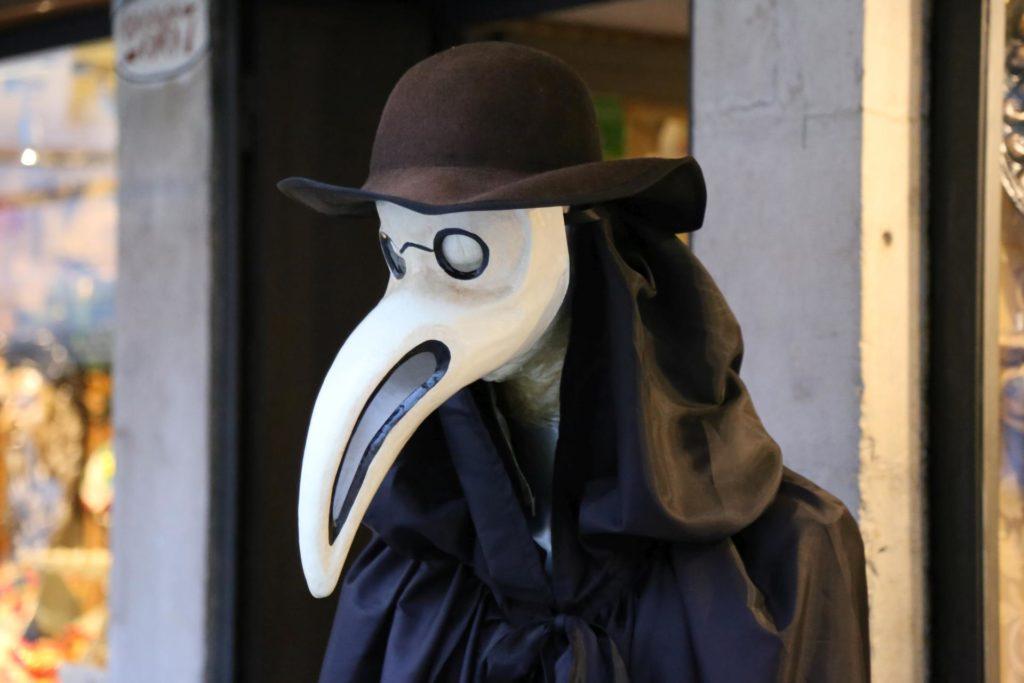 Venezianische Maske - Doktor der Pest - Gegenstände, Kleidung und Accessoires, Kopfbedeckungen, Maske - (Sestière di San Polo, San Polo, Veneto, Italien)