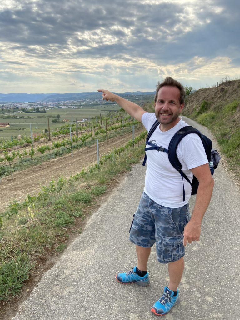 Das Ziel vor Augen, dürfen wir bald jubeln! - Ausblick, Aussicht, Himmel, Landschaft, Landwirtschaft, Weg, Weinbau, Wolken - WEISSINGER Andreas - (Oberrohrendorf, Landersdorf, Niederösterreich, Österreich)