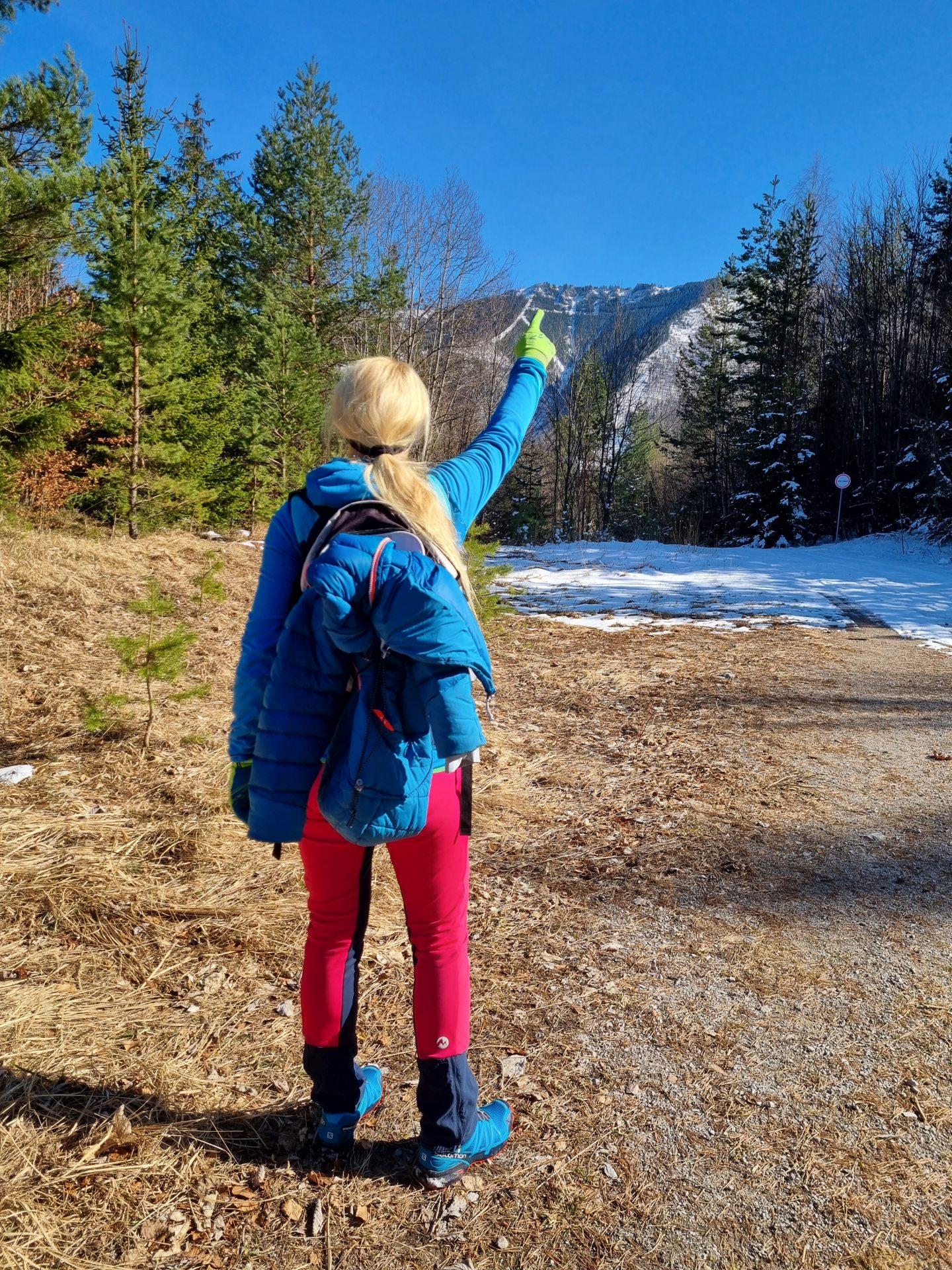 Unterberg - heute wollen wir noch hinaus! - Bäume, Berg, Gipfel, Natur, Personen, Ramsau, Schnee, Unterberg - HOFBAUER-HOFMANN Sofia - (Adamsthal, Kieneck, Niederösterreich, Österreich)